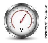vector voltmeter metallic gauge ... | Shutterstock .eps vector #200602289
