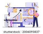 data analysis for business... | Shutterstock .eps vector #2006093837