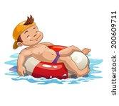 baño,chico,colorido,flotador,feliz,inflable,kid,jugar,sonrisa,tomar el sol,nadar,bronceado,vacaciones