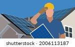 engineer worker of solar system ... | Shutterstock .eps vector #2006113187
