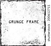 grunge frame. vector template  | Shutterstock .eps vector #200612711