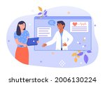 online diagnosis concept. the...   Shutterstock .eps vector #2006130224