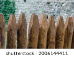 Wooden Fence  For Garden At The ...