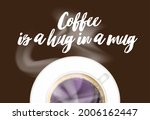 coffee quote with calligraphy... | Shutterstock .eps vector #2006162447