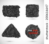 abstract vector grunge hand...   Shutterstock .eps vector #200616647