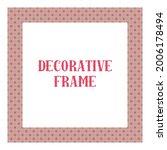 oriental ornamental frame... | Shutterstock .eps vector #2006178494