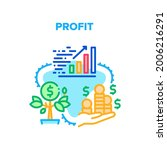 profit growing vector icon...   Shutterstock .eps vector #2006216291