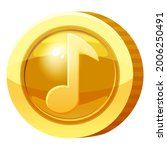 gold medal coin music note...