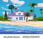 modern cottage mansion on... | Shutterstock .eps vector #2006250494