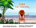 time to travel woman lying on... | Shutterstock .eps vector #2006250497