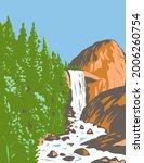 wpa poster art of vernal fall... | Shutterstock .eps vector #2006260754