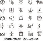 casino icons | Shutterstock .eps vector #200626355