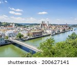 View To Passau In Germany With...
