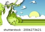 jungle rainforest landscape and ... | Shutterstock .eps vector #2006273621