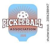 pickleball community logo....   Shutterstock .eps vector #2006288447