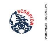 round scorpion logo. sign  icon ... | Shutterstock .eps vector #2006288591