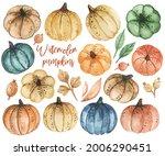 Watercolor Pumpkins Clipart ...