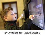 child using interactive touch... | Shutterstock . vector #200630051