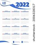 business 2022 calendar template ... | Shutterstock .eps vector #2006328317