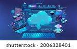 cloud technologies  servers and ... | Shutterstock .eps vector #2006328401