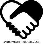 handshake symbol forming a... | Shutterstock .eps vector #2006369651