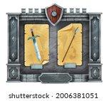 game stone interface menu  rock ...