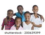 five happy african kids holding ... | Shutterstock . vector #200639399