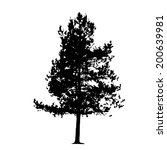 tree silhouette isolated on... | Shutterstock . vector #200639981