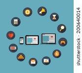 responsive web design icon. ... | Shutterstock . vector #200640014