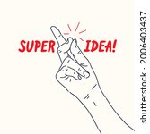a hand gesture. the click of... | Shutterstock .eps vector #2006403437