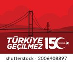 holiday of turkey. 15 temmuz.... | Shutterstock .eps vector #2006408897