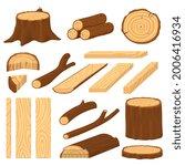 cartoon wood logs. material... | Shutterstock .eps vector #2006416934