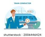 train conductor. railway worker ... | Shutterstock .eps vector #2006446424
