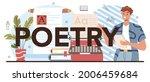 poetry typographic header....   Shutterstock .eps vector #2006459684