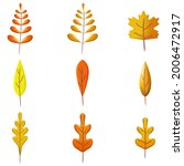 set autumn leaves 3d. fall leaf ... | Shutterstock .eps vector #2006472917