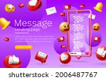 message with many icons  chat... | Shutterstock .eps vector #2006487767