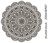 mandala. round ornament pattern | Shutterstock .eps vector #200648987