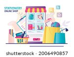 app for buying stationery on... | Shutterstock .eps vector #2006490857