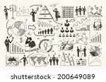 sketch business organization... | Shutterstock .eps vector #200649089