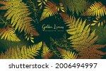 abstract art. gold fern leaves... | Shutterstock .eps vector #2006494997