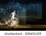 young running man against... | Shutterstock . vector #200651105