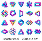 geometric impossible shapes.... | Shutterstock .eps vector #2006515424