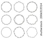 barbed wire frames. round...   Shutterstock .eps vector #2006515514