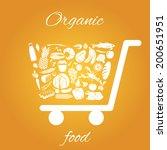 shopping cart made of fruits... | Shutterstock .eps vector #200651951