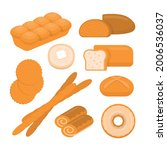 different types of bread.... | Shutterstock .eps vector #2006536037