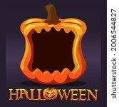 halloween pumpkin frame avatar  ... | Shutterstock .eps vector #2006544827