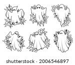set of silhouettes ghosts....   Shutterstock .eps vector #2006546897