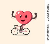 cartoon heart character cycling ...   Shutterstock .eps vector #2006550887