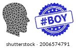 hashtag boy textured stamp and...   Shutterstock .eps vector #2006574791