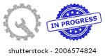 in progress corroded seal...   Shutterstock .eps vector #2006574824